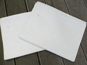 "Unused Pair ( 2) White of Cream Linen Sheets Linen Monogram GS 58 "" by 88"""