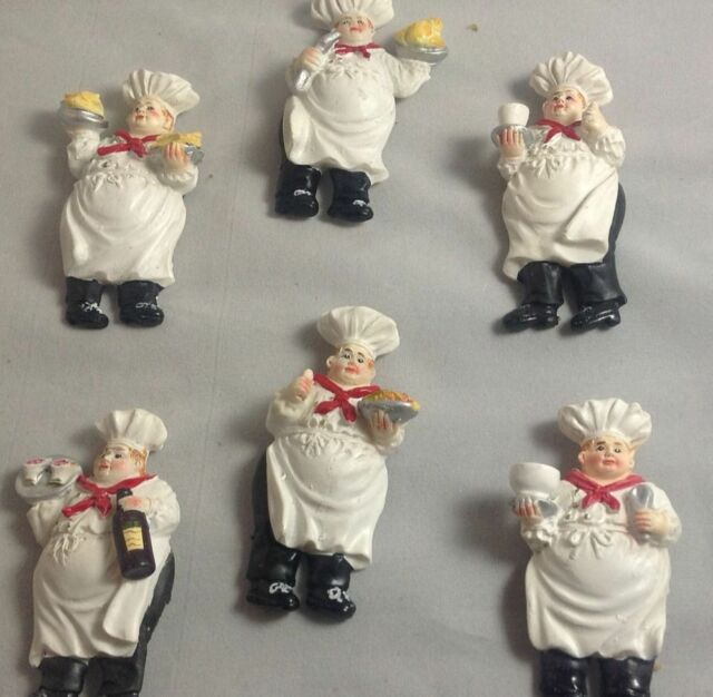 New 6 Fat Chef Italian magnets Kitchen decor home refrigerator bistro Bar fridge