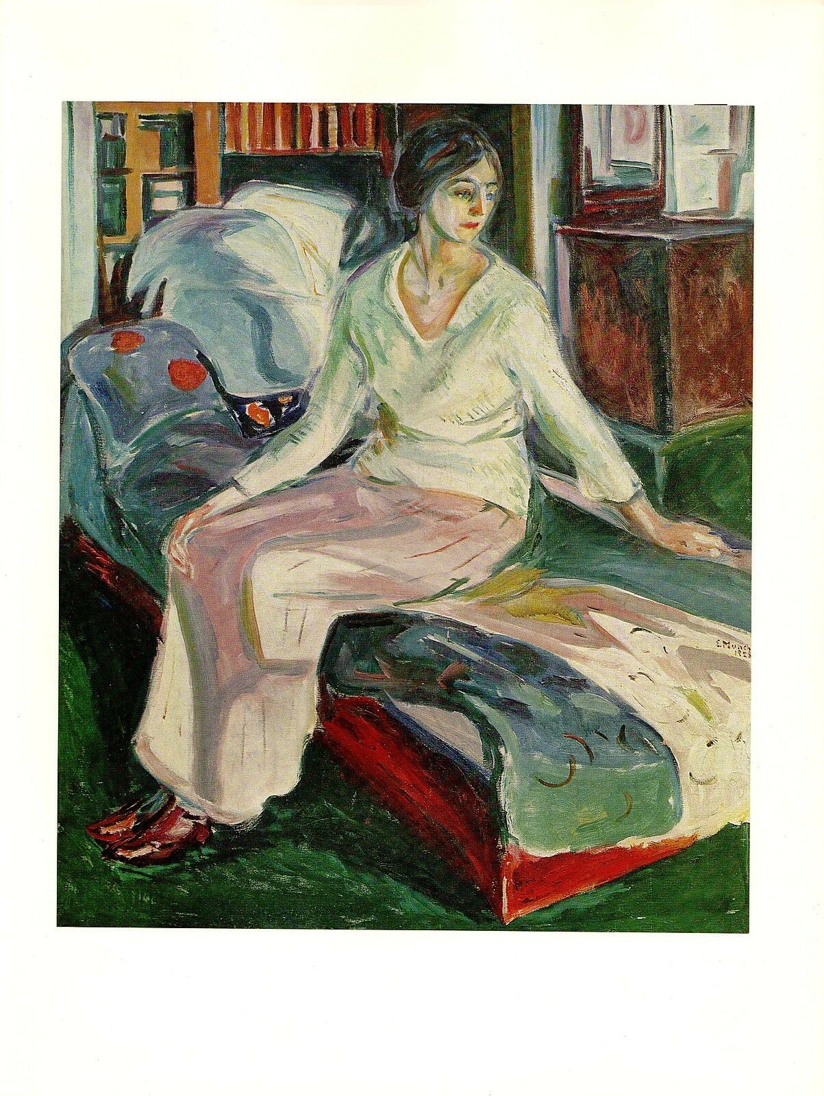 """1970 Vintage MUNCH /""""SEATED MODEL/"""" COLOR offset Lithograph"""