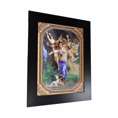 3 Dimension 3D Lenticular Picture Baby Angel Wings Naked Girls Oil Painting