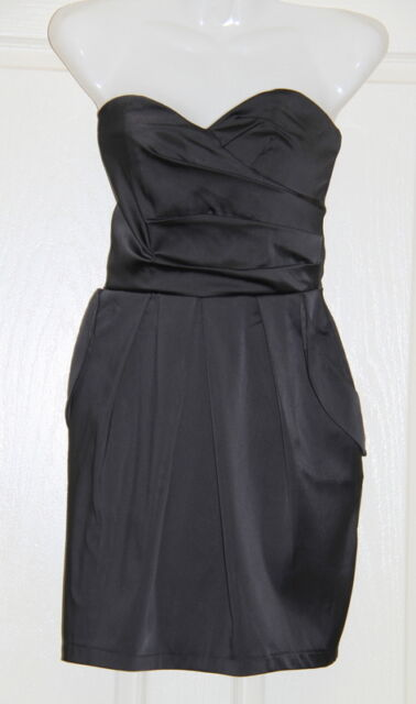 Womens size S (6) black strapless cocktail mini dress made by SUPRE