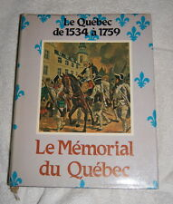 Le Memorial du Quebec Tome 1 1534-1760 (1980) history - French language