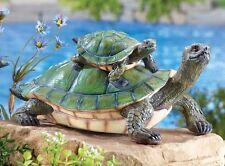 Momma & Child Turtle Outdoor Garden Statue
