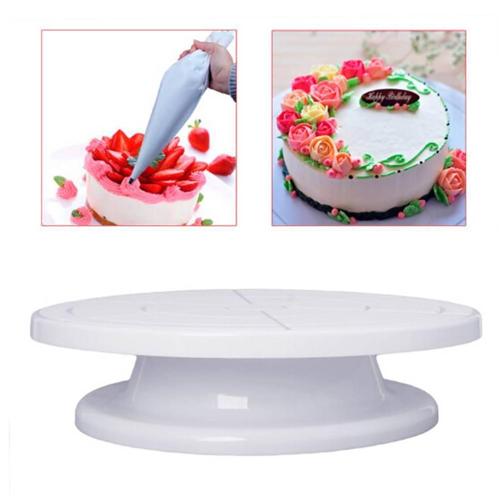11cm//4.33/'/' Round Cake Turntable Rotating Stand Plate Platform Baking Tool