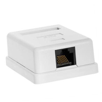 Cat6 RJ45 8P8C UTP Unshielded Single Port Desktop Mount Box