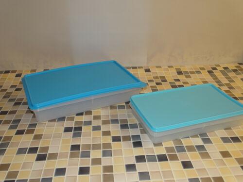 "2 1,5l /& 2,7l  klar-hellblau-blau NEU Tupperware /""PARTY-BOX/""-Set"