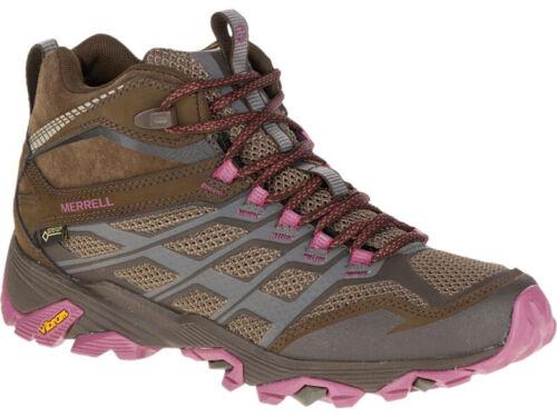 Merrell Moab FST Mid GORE-TEX Womens Walking Boots Brown GTX Waterproof Boot