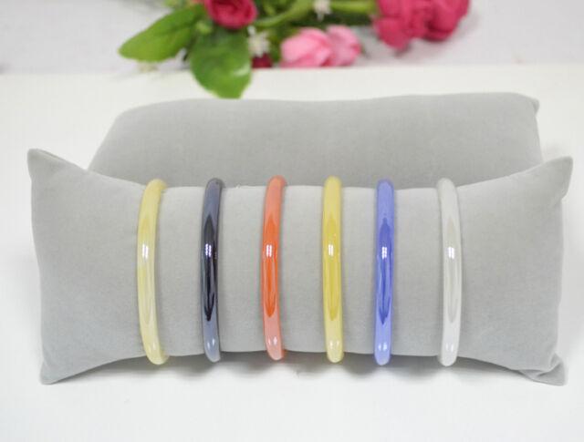 Retail Bracelet Bangle Watch Pillow Holder for Jewelry Display Large Grey Velvet