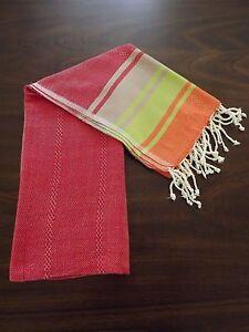 Red Beach Bath Peshtemal Towel Rainbow Turkish Cotton Large Towel