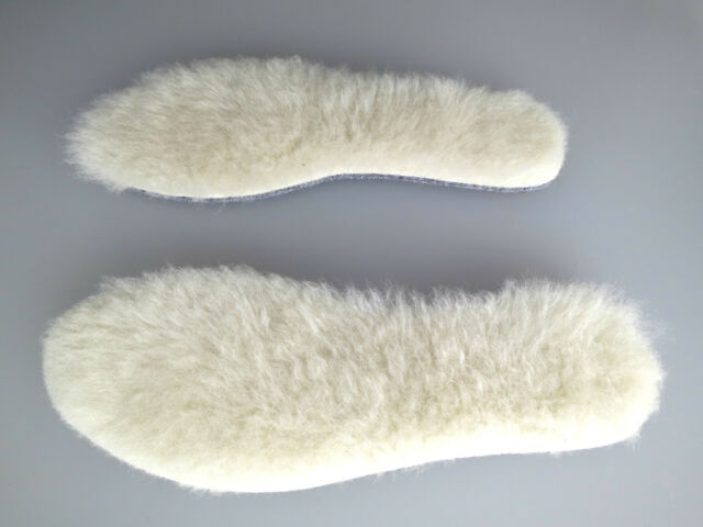 SCHAF 100% WOLLE  SHEEPSKIN NEU NSOLES INSERTS FUR LAMBSKIN SOLES