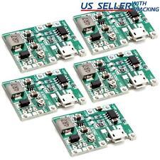 5pcs Micro Usb Tp4056 37v Charger Module With Step Up Boost 5v 9v 12v 27v Dc Ups