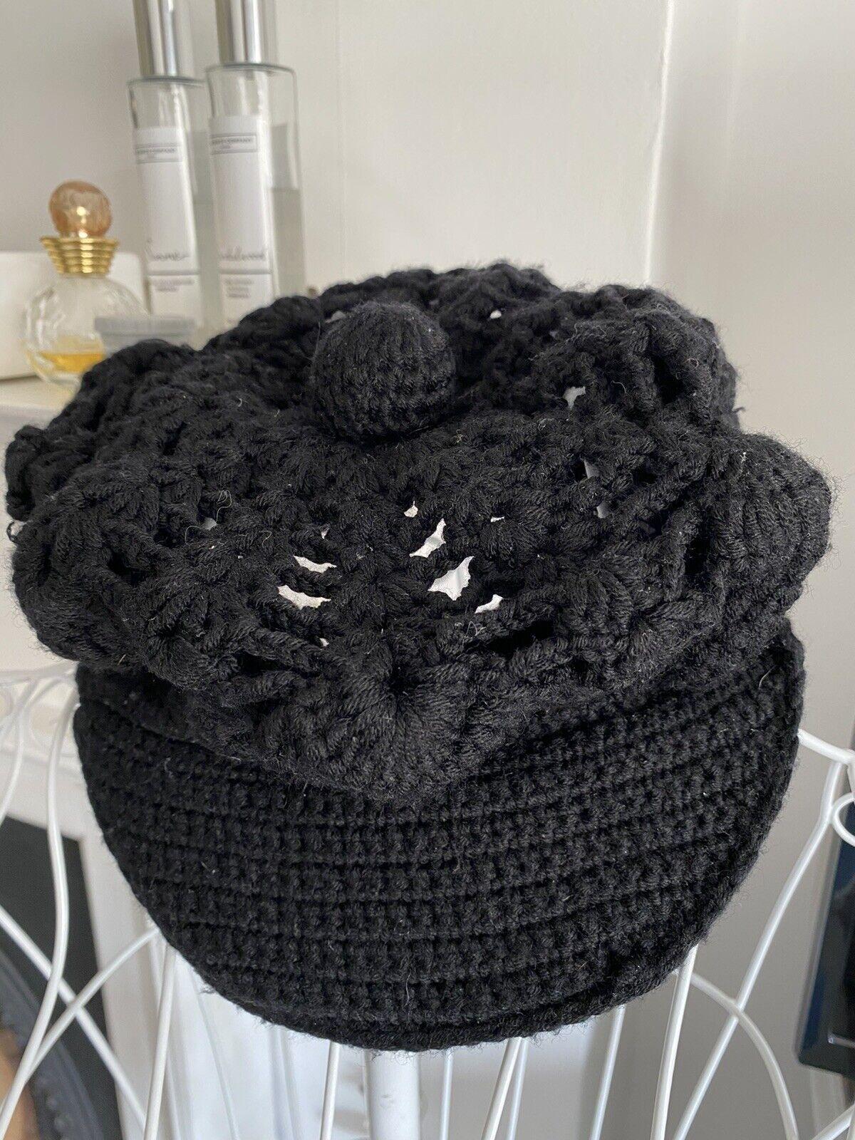 Armani Exchange Crochet Hatteras Estilo Damas Sombrero de un tamaño 100% Lana