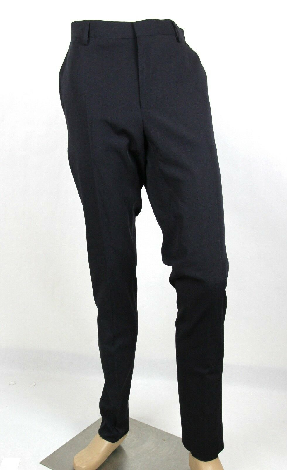 New Bottega Veneta Men's Wool Navy Dress Pants IT 52 US 36 308276 4014