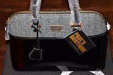 Paul's Boutique - Maisy Large Bag - Black Patent & Half Tweed