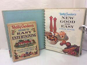 "Betty Crocker's -1st PRINTS ""NEW GOOD AND EASY"" / ""EASY ENTERTAINING"" COOKBOOKS"