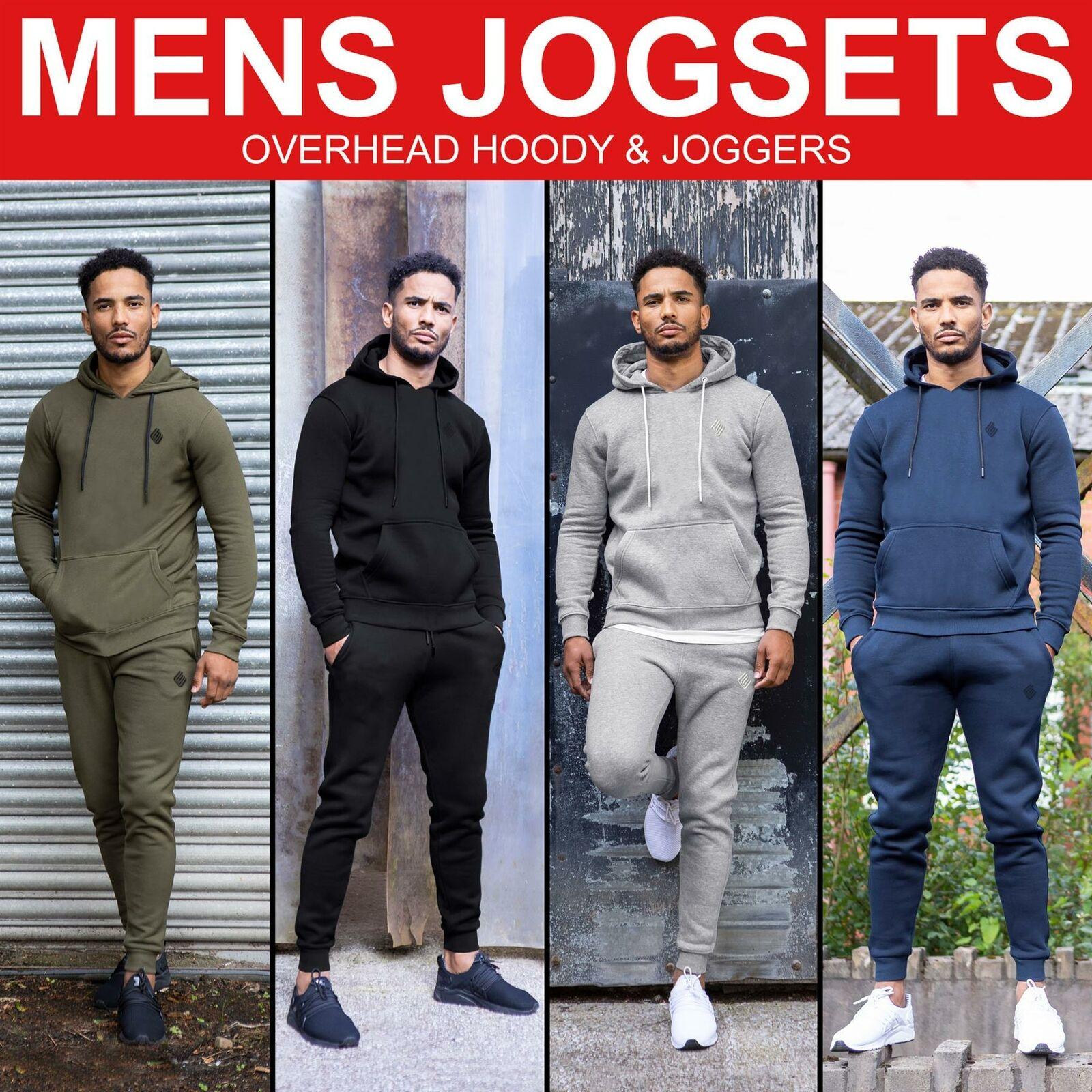 Mens Full Tracksuit Set Pullover Hoodie Hooded Sweatshirt Jogger Jogging Bottoms