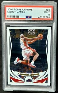 2004-Topps-Chrome-2nd-Year-Lakers-Star-LEBRON-JAMES-Basketball-Card-PSA-9-MINT