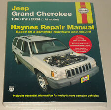 Reparaturanleitung Jeep Grand Cherokee Typ ZJ + WJ, Baujahre 1993 - 2004