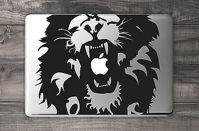 Lion Roar Vinyl Decal Sticker for Apple MacBook Air/Pro Laptop 13""