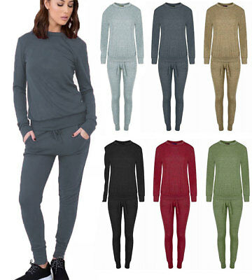 New Womens Ladies Lounge Wear Two Piece Set Tracksuit Size UK 8-26
