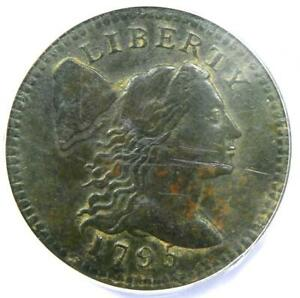 1795-Flowing-Hair-Liberty-Cap-Large-Cent-S-76B-Certified-ANACS-VF30-Details
