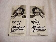 Michael Jackson 2 Perfume Samples Official 1989 Triumph International Mega Rare