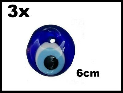 Gewidmet 3x Nazar Boncuk Glas Amulet Anhänger Sünnet Nikah Dügün Istanbul TÜrk 6cm Glas QualitäT Und QuantitäT Gesichert