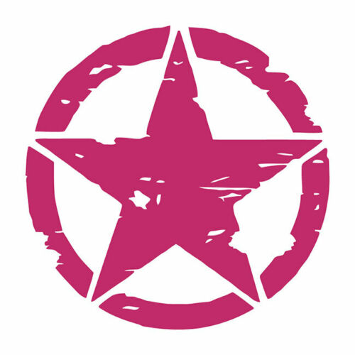 Distressed Army Star Automotive Die Cut Decal Multiple color Oracal 651 6 years