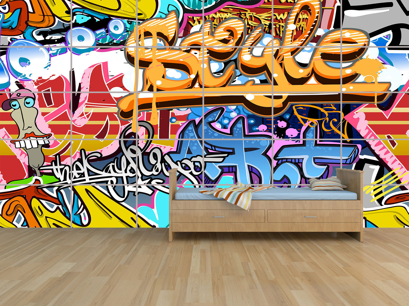 POSTER GRAFFITI 252cm X 148,5cm  GIANT POSTER HUGE ROOM KIDS