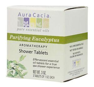 Aura-Cacia-Aromatherapy-Shower-Tablets-Purifying-Eucalpytus-3-ounce