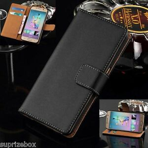 Genuine-Real-Leather-Wallet-Card-Stand-Case-Cover-for-Samsung-Galaxy-S6-EDGE