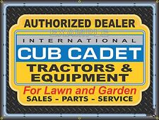 INTERNATIONAL CUB CADET LAWN GARDEN TRACTORS BANNER SIGN ART MURAL 4' X 3'
