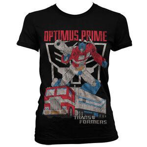 Licenza-Ufficiale-Transformers-Optimus-Prime-Sdrucito-Donna-T-SHIRT-S-XXL