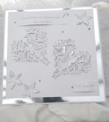Cosciente 8x8 Grande Matrimonio/anniversario/compleanno/fidanzamento Fatto A Mano Personalizzato Card-rsary/birthday/engagement Handmade Personalised Card It-it