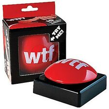 WTF What the F*%k Red Slam Button - Joke Gag Gift Funny Prank Novelty - 10 sound