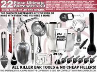 Bartender Gear: 22 Piece Bartender Kit