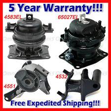 Engine Motor Mount Set 3PCS For 2006-2008 Honda Pilot 3.5L 2WD 65027 4583EL 4551