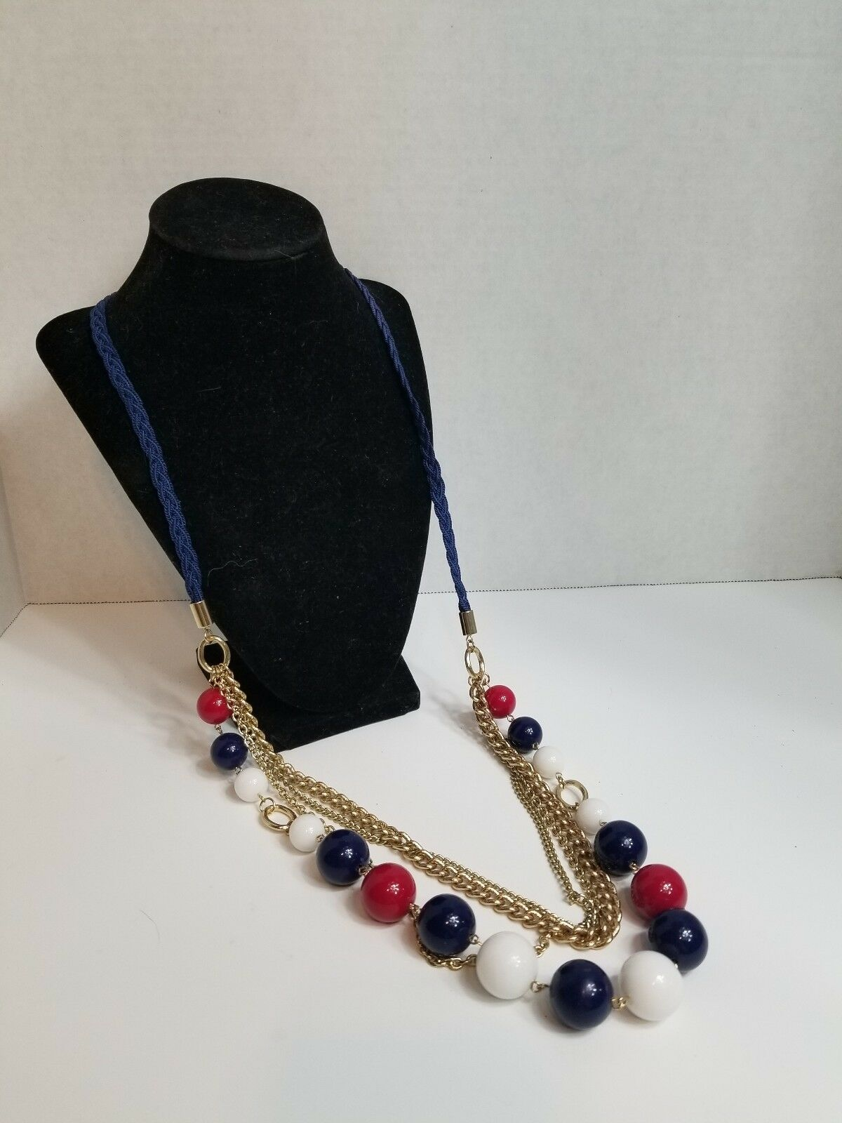 Multi Strand Beaded Chain Necklace - image 1