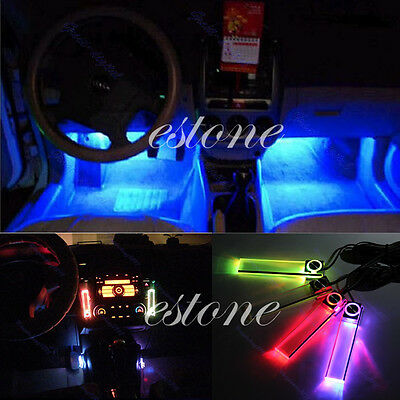 12V 4 in 1 Car Charge LED Interior Decorative Light Lamp Colors Decoration Floor