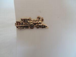 7231e1eca067 Image is loading Pioneer-Southern-Pacific-gold-tone-locomotive-train-tie-