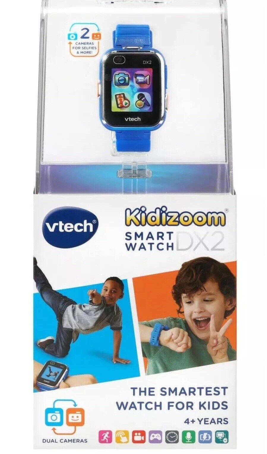 Reloj Inteligente Vtech Kidizoom DX2 Azul Cámara Video Juego aplicaciones Nuevo Sellado Nuevo En Caja