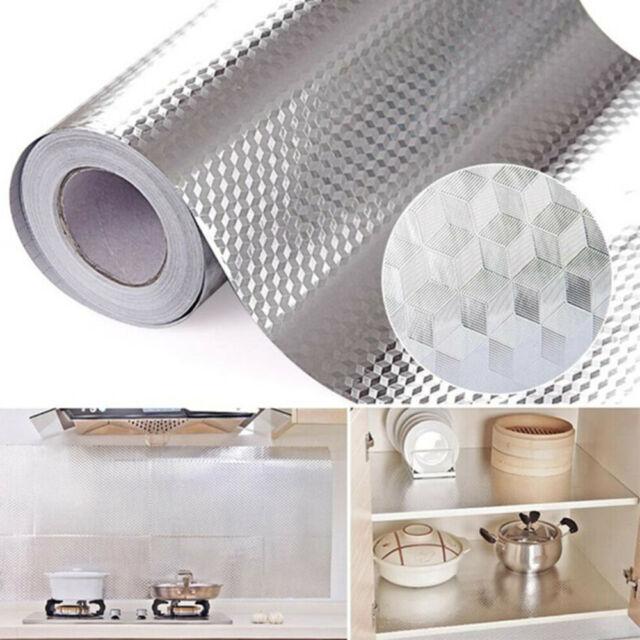 DIY Aluminum Foil Self Adhesive Waterproof Wall Sticker for Kitchen Home Decor U