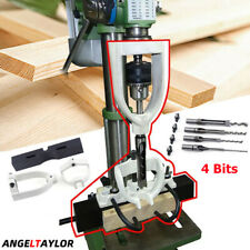 Mortising Kit Drill Press Attachment Woodworking Mortising Locator Tools 4 Bits