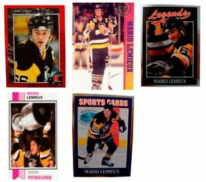 5-Mario-Lemieux-Odd-Ball-Hockey-Trading-Card-Lot-Pittsburgh-Penguins