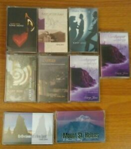 Lot-of-9-Gary-Jess-Music-Cassette-Tapes-Signed-by-Artist-with-Carry-Case