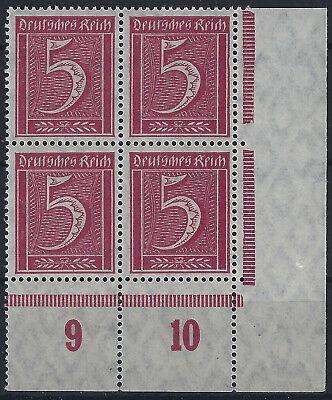 Konstruktiv Minr 158 Im Viererblock V Plattenunterrand Aus Ecke 4 M Geriffelter Gummierung KöStlich Im Geschmack Briefmarken
