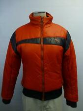womens Puma Cat red zip up puffer winter Coat lined ski bunny soccer sz Small