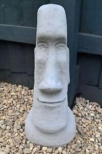 Image Is Loading Large 48cm Stone Moai Easter Island Head Tiki