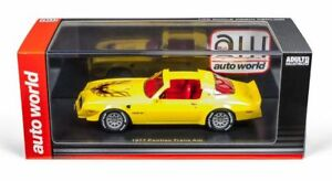 Pontiac-Firebird-1977-Yellow-1-43-Model-Car-Resin-Autoworld