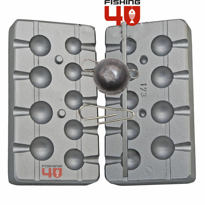 Cheburashka weight mould_ system for jig heads and pROTator jigs-Clips Included